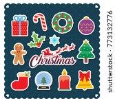 set of christmas icon or design ...   Shutterstock .eps vector #773132776