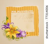vintage greeting card with... | Shutterstock .eps vector #77314006