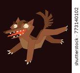 vector cartoon image of a funny ... | Shutterstock .eps vector #773140102