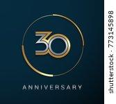 30 years anniversary logotype... | Shutterstock .eps vector #773145898