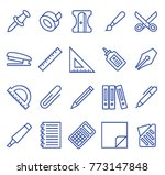 stationery set vector lines... | Shutterstock .eps vector #773147848
