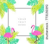 summer tropical background... | Shutterstock .eps vector #773150392