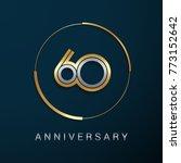 60 years anniversary logotype... | Shutterstock .eps vector #773152642