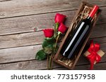 valentines day greeting card ... | Shutterstock . vector #773157958