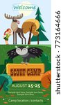 kid's summer scout camp poster... | Shutterstock .eps vector #773164666