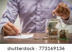 save money for retirement and... | Shutterstock . vector #773169136