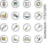 line vector icon set   plane... | Shutterstock .eps vector #773171092