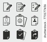 clipboard vector icons set.... | Shutterstock .eps vector #773177656
