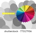 unique   standout from crowd | Shutterstock .eps vector #77317936