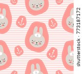 cute baby pattern with little... | Shutterstock .eps vector #773187172