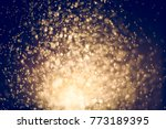 gold abstract background with... | Shutterstock . vector #773189395