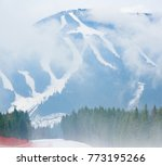 beautiful mountains landscape ... | Shutterstock . vector #773195266