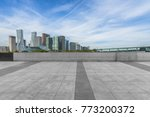 empty and modern square in... | Shutterstock . vector #773200372