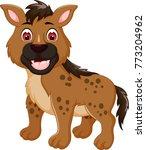 funny hyena cartoon posing with ... | Shutterstock .eps vector #773204962