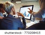 creative business team working... | Shutterstock . vector #773208415