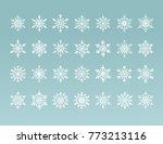 white nowflakes symbols... | Shutterstock .eps vector #773213116