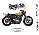 vintage motorcycle poster | Shutterstock .eps vector #773213395