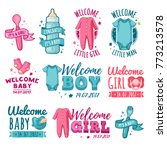 collection design of baby... | Shutterstock .eps vector #773213578