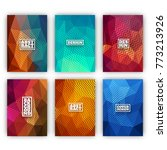 colorful flyer template set  ... | Shutterstock .eps vector #773213926