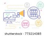 digital marketing for business... | Shutterstock .eps vector #773214385