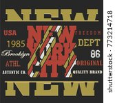 typography sport new york t... | Shutterstock .eps vector #773214718