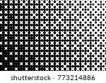 abstract futuristic halftone... | Shutterstock .eps vector #773214886