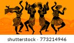 dance of the papuans. dancing... | Shutterstock .eps vector #773214946