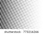 abstract futuristic halftone... | Shutterstock .eps vector #773216266