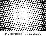abstract futuristic halftone... | Shutterstock .eps vector #773216296