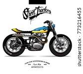 vintage srambler motorcycle... | Shutterstock .eps vector #773216455