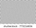 abstract monochrome halftone... | Shutterstock .eps vector #773216836