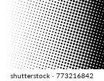 abstract monochrome halftone... | Shutterstock .eps vector #773216842