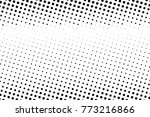 abstract monochrome halftone... | Shutterstock .eps vector #773216866