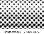 abstract monochrome halftone... | Shutterstock .eps vector #773216872