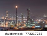 oil refinery or chemical plant... | Shutterstock . vector #773217286