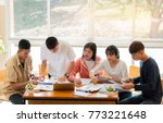 asian college groups of...   Shutterstock . vector #773221648