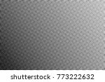 abstract monochrome halftone... | Shutterstock .eps vector #773222632