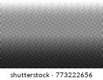abstract monochrome halftone... | Shutterstock .eps vector #773222656