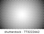 abstract monochrome halftone... | Shutterstock .eps vector #773222662