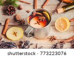 christmas drink. selective... | Shutterstock . vector #773223076