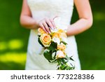 macro view of the young bride... | Shutterstock . vector #773228386