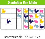sudoku game for children with... | Shutterstock .eps vector #773231176