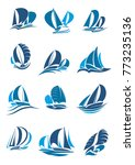 sail boat  yacht and sailboat... | Shutterstock .eps vector #773235136