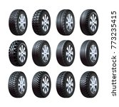 car tires vector 3d isolated... | Shutterstock .eps vector #773235415
