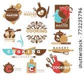 cooking school master class... | Shutterstock .eps vector #773235796