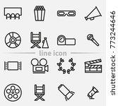 set of cinema elements outline... | Shutterstock .eps vector #773244646