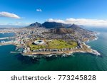 aerial view of cape town  south ...