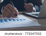 businessman in black suit... | Shutterstock . vector #773247532