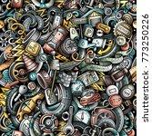 cartoon cute doodles automotive ... | Shutterstock .eps vector #773250226
