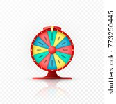 jackpot win in the wheel of... | Shutterstock .eps vector #773250445